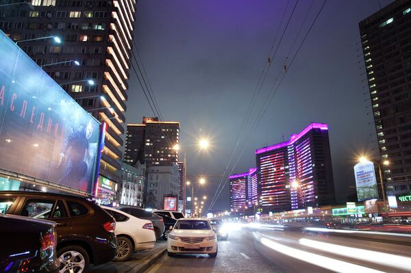 Cамые освещенные места в Москве – Новый Арбат