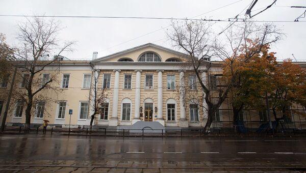 Здание госпиталя имени Н.Н. Бурденко. Архивное фото