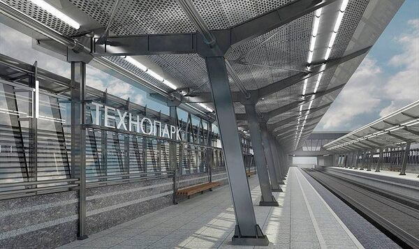 Проект станции метро Технопарк