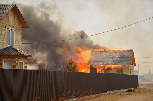 Пожары в Забайкальском крае