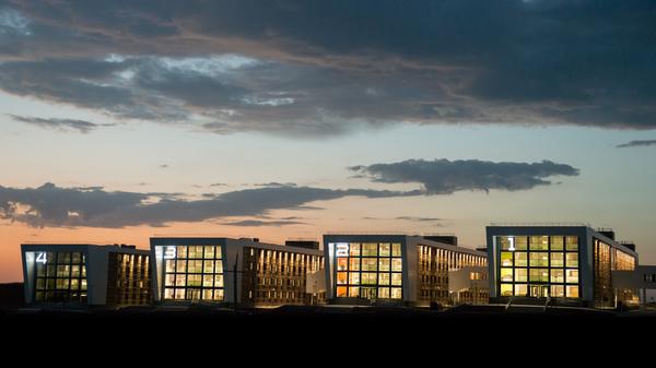 Общежития в кампусе университета в городе Иннополис