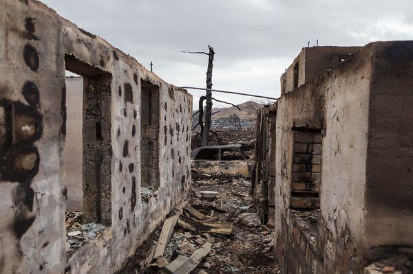Последствия пожаров в Хакасии