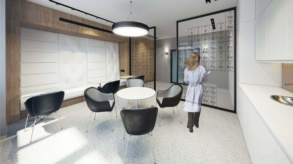 Дизайн-проект комнаты отдыха лаборатории АО Гиредмет от ABD architects