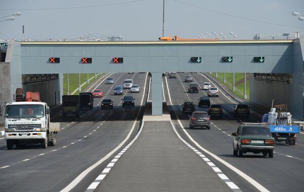 Открытие тоннеля на Варшавском шоссе