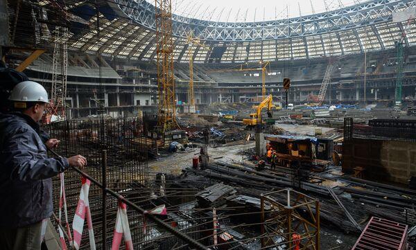 Футбол. Визит делегации FIFA и Оргкомитета Россия-2018 на БСА Лужники