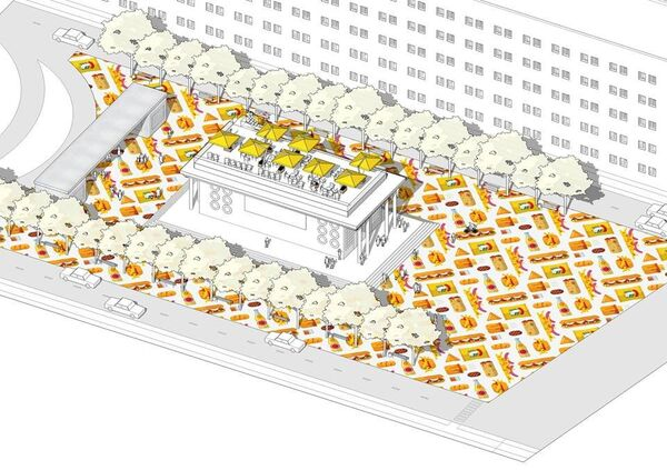 Проект благоустройства площади возле метро Чистые пруды