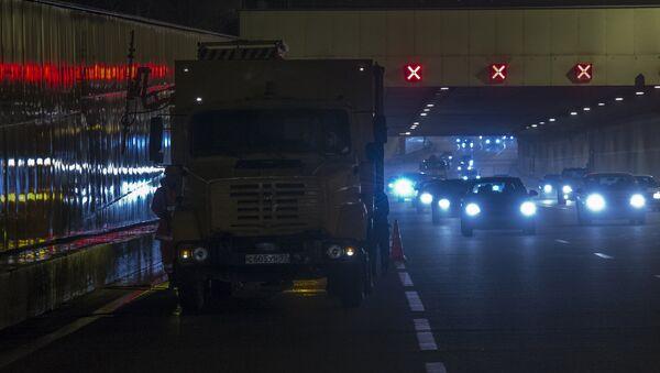 Промывка Лефортовского транспортного тоннеля