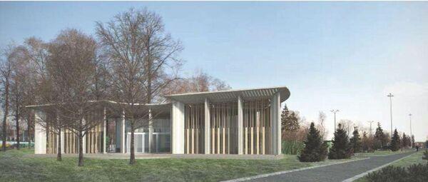 Проект павильона сервисного центра уличных видов спорта в Лужниках