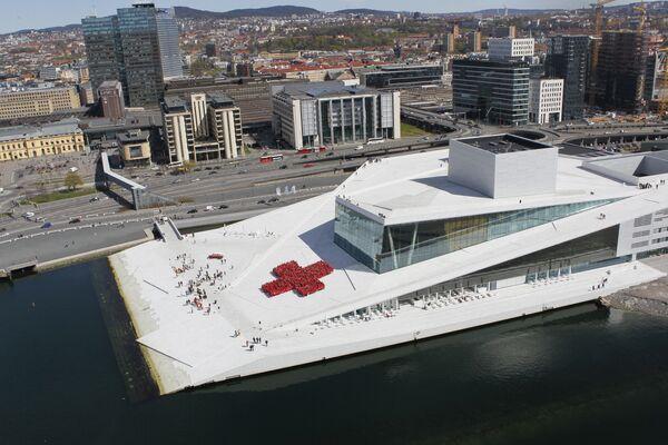 Театр Оперы в Осло (Oslo Opera House), одно из самых энергоэффективных зданий Норвегии.