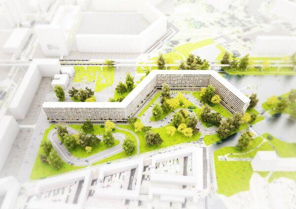 Проект реконструкции ЖК Kleiburg в Амстердаме