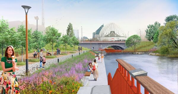 Проект преобразования набережной реки Исеть в Екатеринбурге