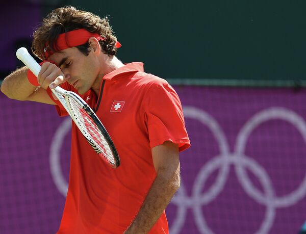 Роджер Федерер на Олимпийских играх в Лондоне