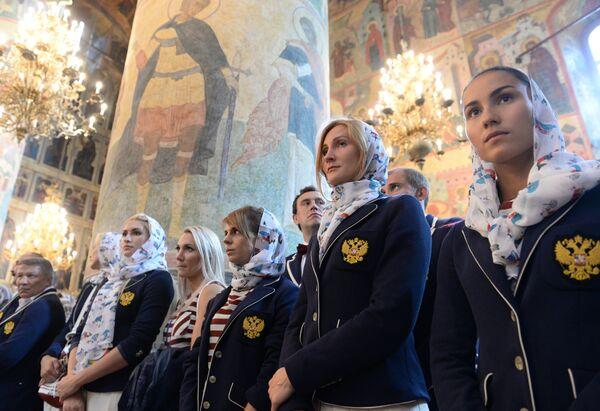 Члены российской олимпийской сборной по современному пятиборью