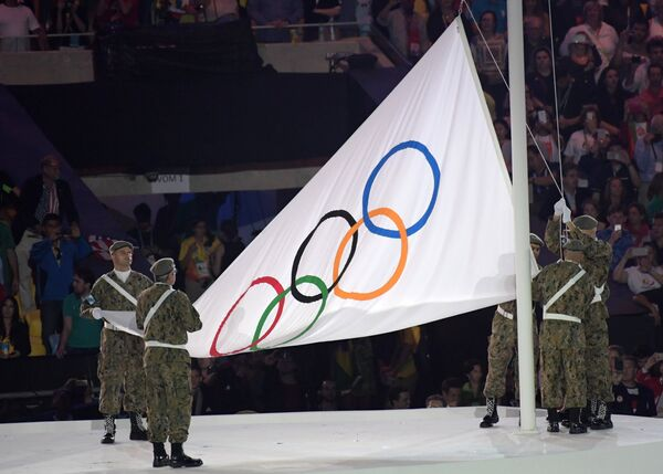Вынос Олимпийского флага