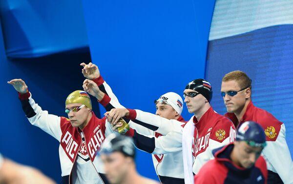 Александр Сухоруков, Владимир Морозов, Данила Изотов и Андрей Гречин (слева направо)