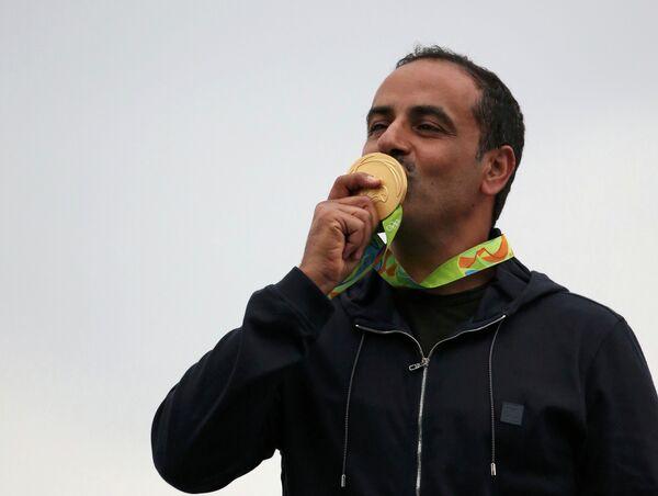 Фехайд аль-Дихани, выступающий под флагом МОК за сборную независимых олимпийцев