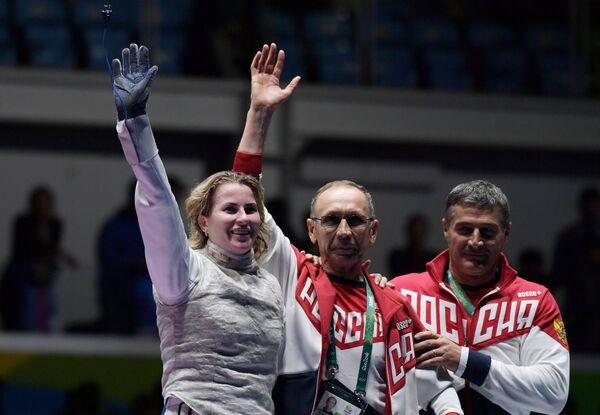 Ильгар Мамедов, Ильдар Мавлютов и Инна Дериглазова (справа налево)