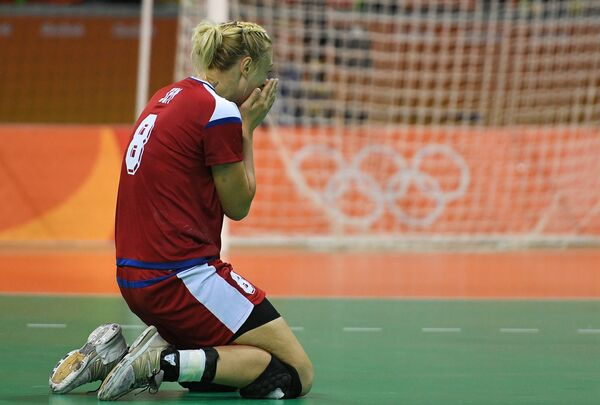 Гандболистка сборной России Анна Сень