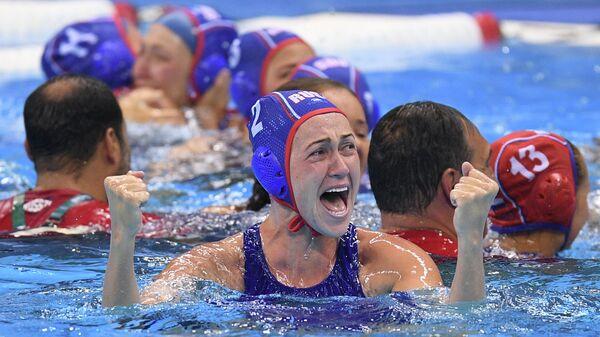 Игрок женской сборной России по водному поло Надежда Глызина