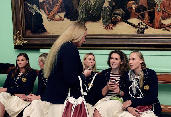 Церемония вручения президентом РФ В. Путиным госнаград победителям и призерам олимпийской сборной РФ