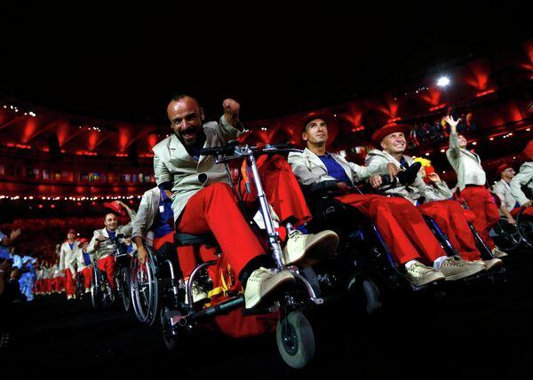 Спортсмены паралимпийской сборной Испании