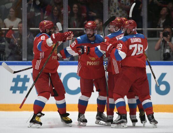Хоккей. Выставочный матч. Россия - Чехия