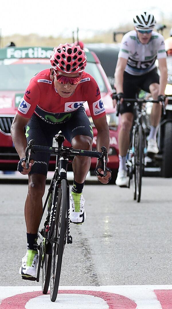 Колумбиец Наиро Кинтана из команды Movistar