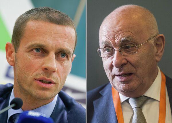 Словенец Александер Чеферин и голландец Михаэль ван Праг (слева направо)