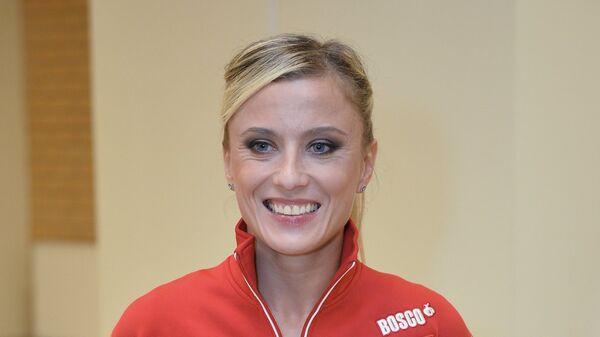 Двукратная олимпийская чемпионка по спортивной гимнастике Елена Замолодчикова