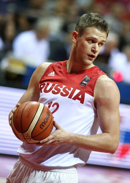 Форвард сборной России Андрей Зубков