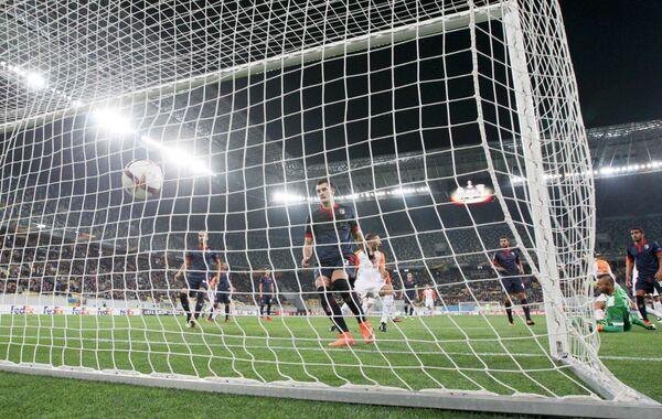 Игровой момент взятия ворот Браги в матче против Шахтера в Лиге Европы