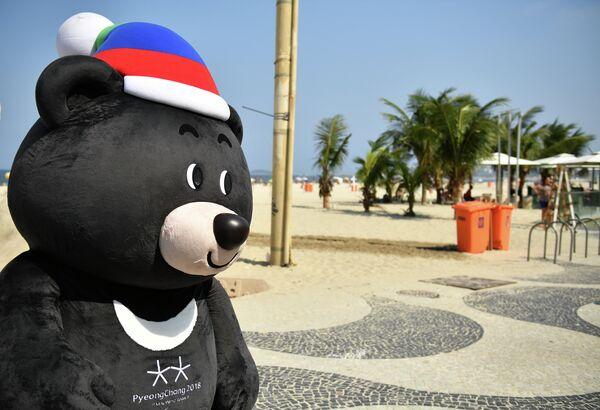 Маскот зимних Олимпийских игр-2018 в Пхенчхане