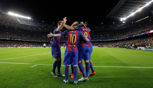 Футболисты испанской Барселоны