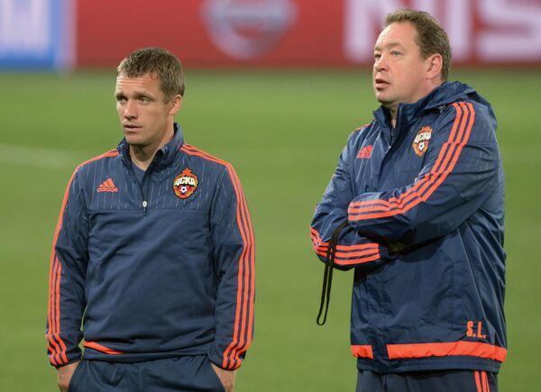 Виктор Ганчаренко и Леонид Слуцкий (справа)