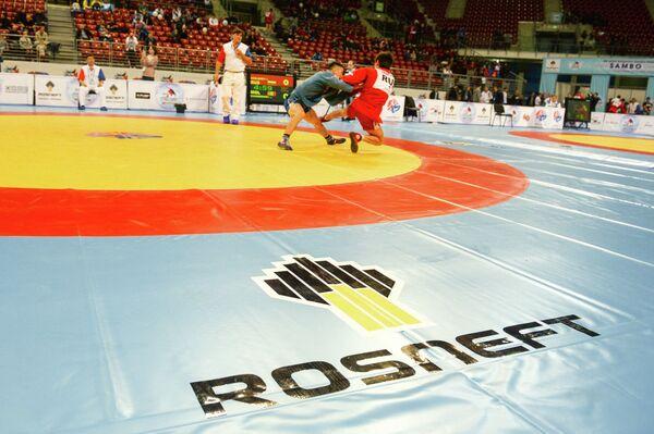 Схватка на чемпионат мира по самбо в Софии