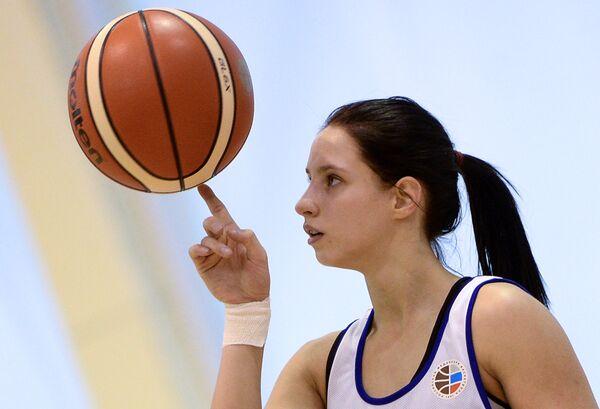 Защитник женской сборной России по баскетболу Ксения Левченко