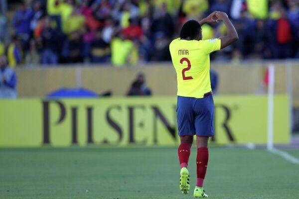 Защитник сборной Эквадора по футболу Артуро Мина