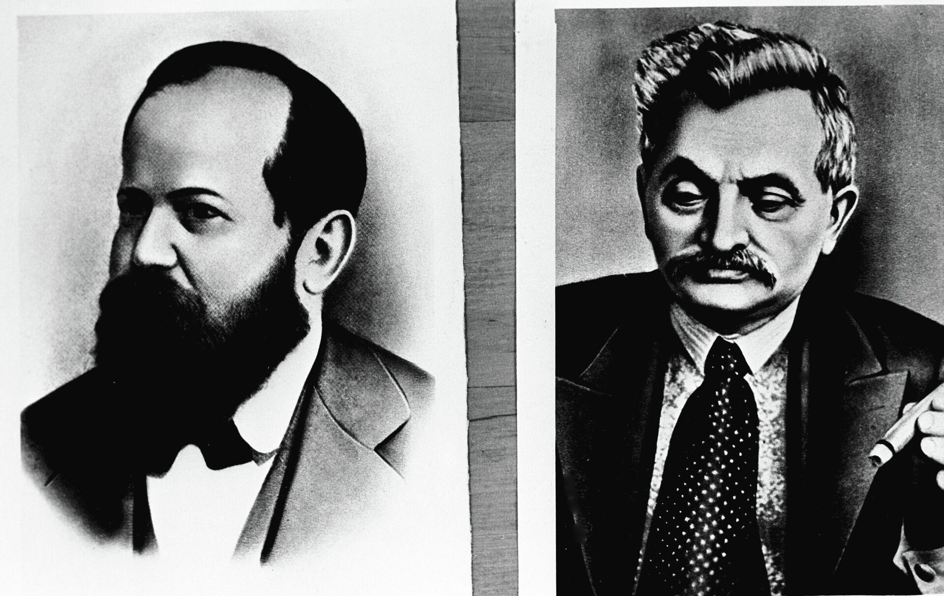 Американский шахматист Вильгельм Стейниц (1836-1900) (слева) - РИА Новости, 1920, 19.07.2021