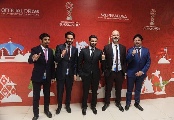 Делегация Катара перед началом церемонии официальной жеребьевки Кубка конфедераций-2017