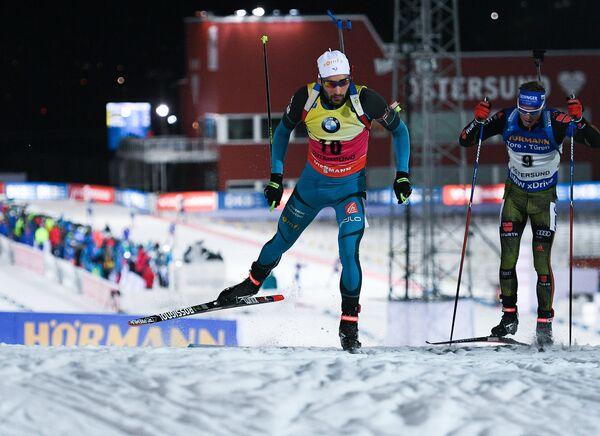 Слева направо: Мартен Фуркад (Франция) и Симон Шемпп (Германия)