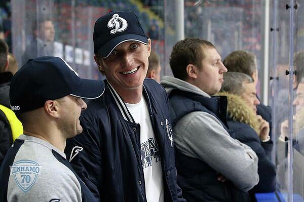 Иван Скобрев в форме хоккейного клуба Динамо