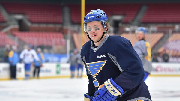 Нападающий клуба НХЛ Сент-Луис Блюз Владимир Тарасенко