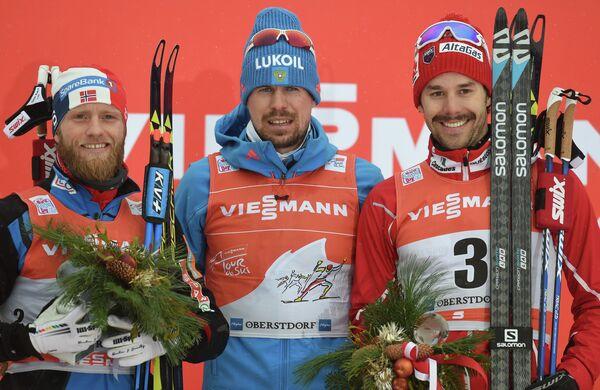 Мартин Йонсруд Сундбю, Сергей Устюгов и Алекс Харви (слева направо)