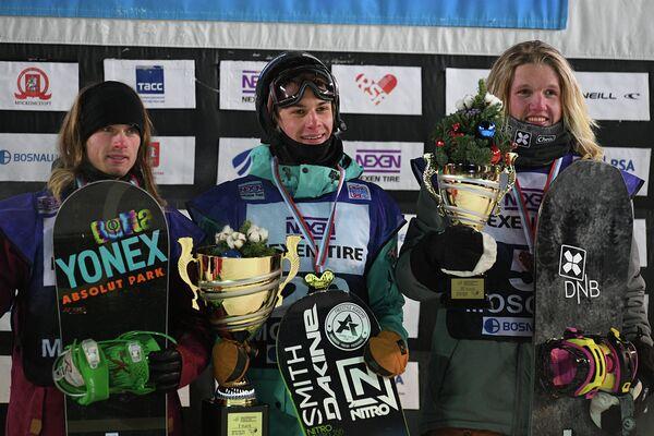 Слева направо: Антуан Трюшон (Канада), Владислав Хадарин (Россия) и Фритьоф Тишендорф (Норвегия)