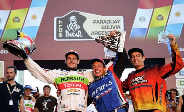 Чилиец Игнасио Касале, россиянин Сергей Карякин и аргентинец Себастьян Копетти (слева направо)