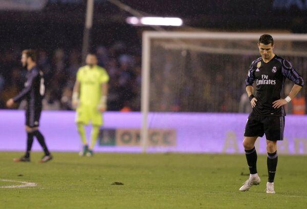 Нападающий мадридского Реала Криштиану Роналду после поражения от Сельты
