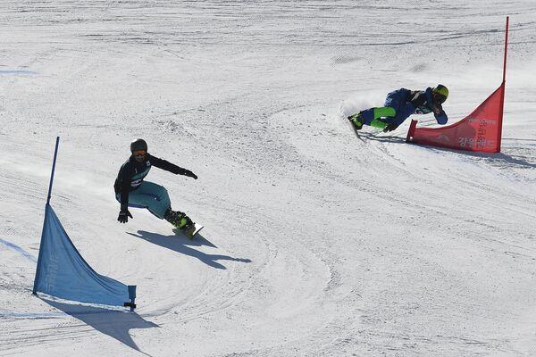 Сноуборд. Этап Кубка мира. Параллельный гигантский слалом