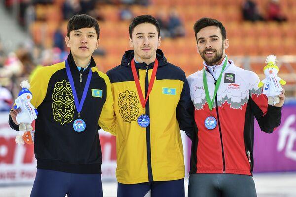 Абзал Ажгалиев, Денис Никиша и Франсуа Амлен (слева направо)