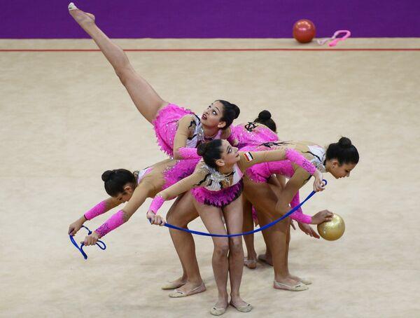 Спортсменки сборной Египта по художественной гимнастике