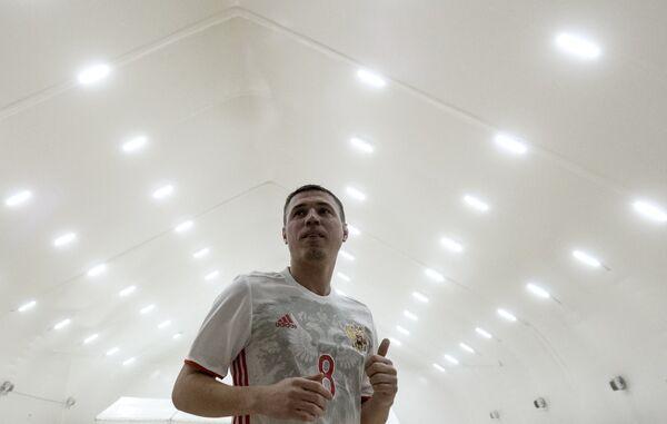 Игрок Спартака Илья Леонов